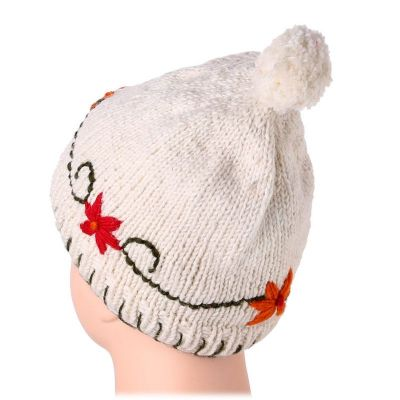 Wollmütze Bunga Putih
