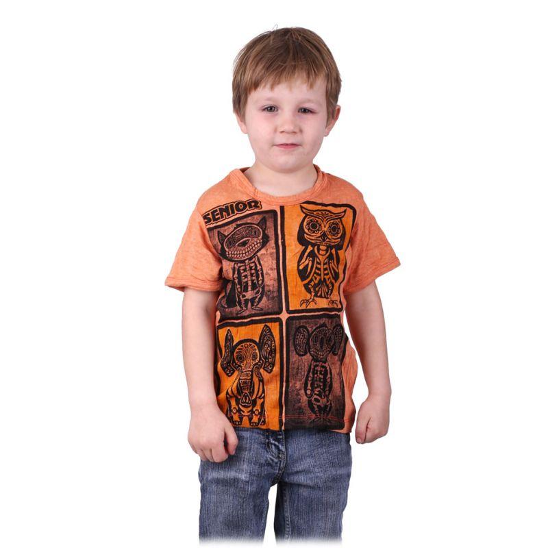 Kinder T-shirt Sure Animal X-Ray Orange