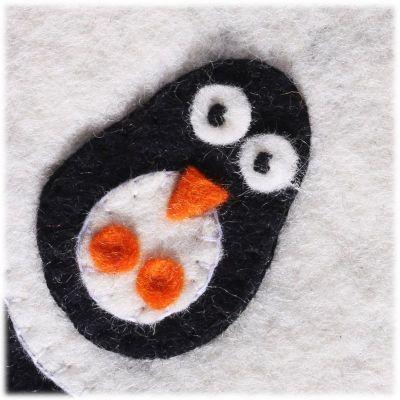 Filz-Handtasche für Kinder Pinguin