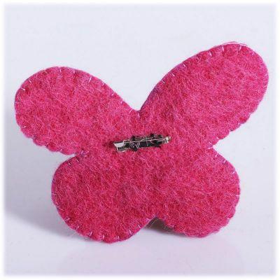 Filzbrosche Schmetterling rosa
