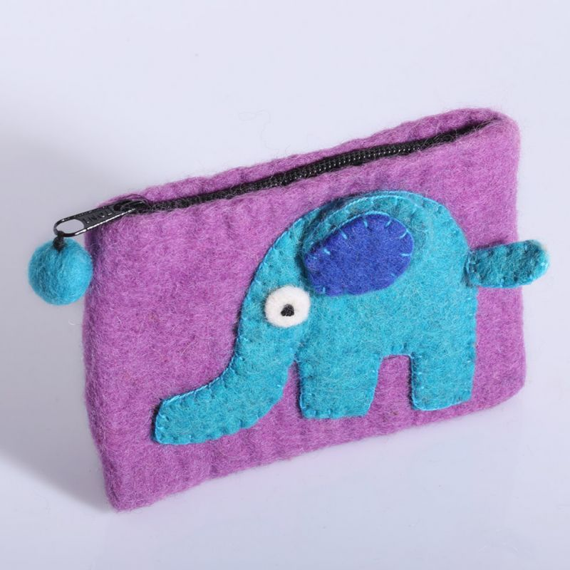 Kleine Filztasche mit einem Elefanten