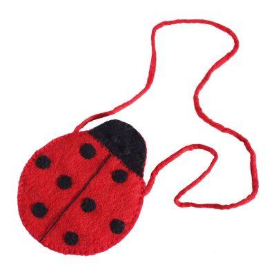 Filz-Handtasche für Kinder Marienkäfer