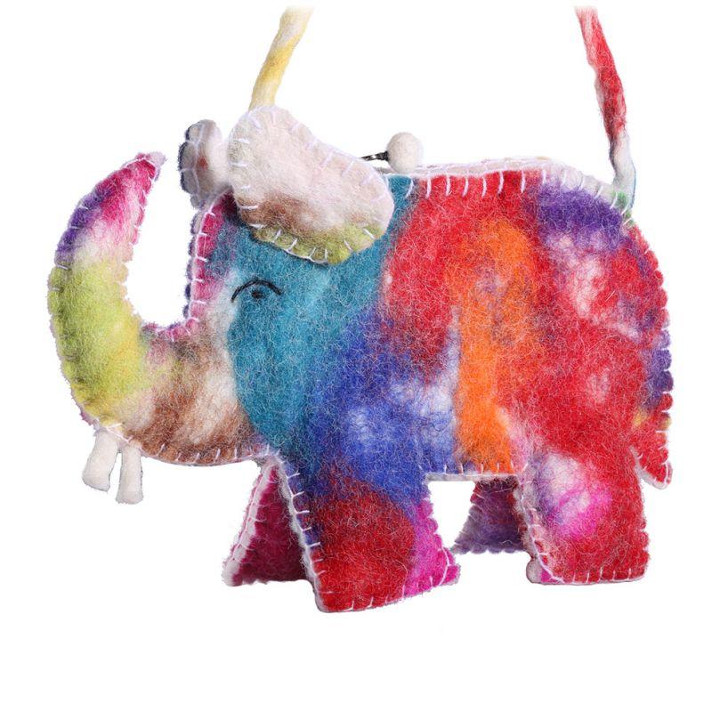 Filz-Handtasche für Kinder Bunter Elefant