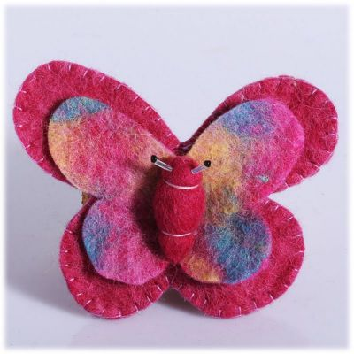 Brosche Schmetterling rosa