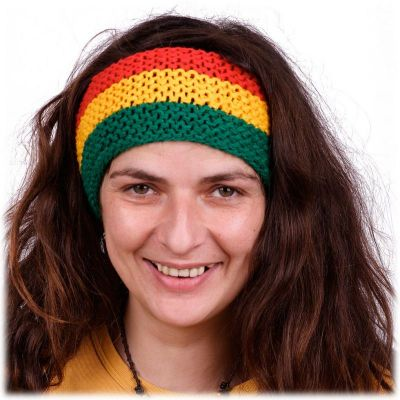 Stirnband Green-Yellow-Red
