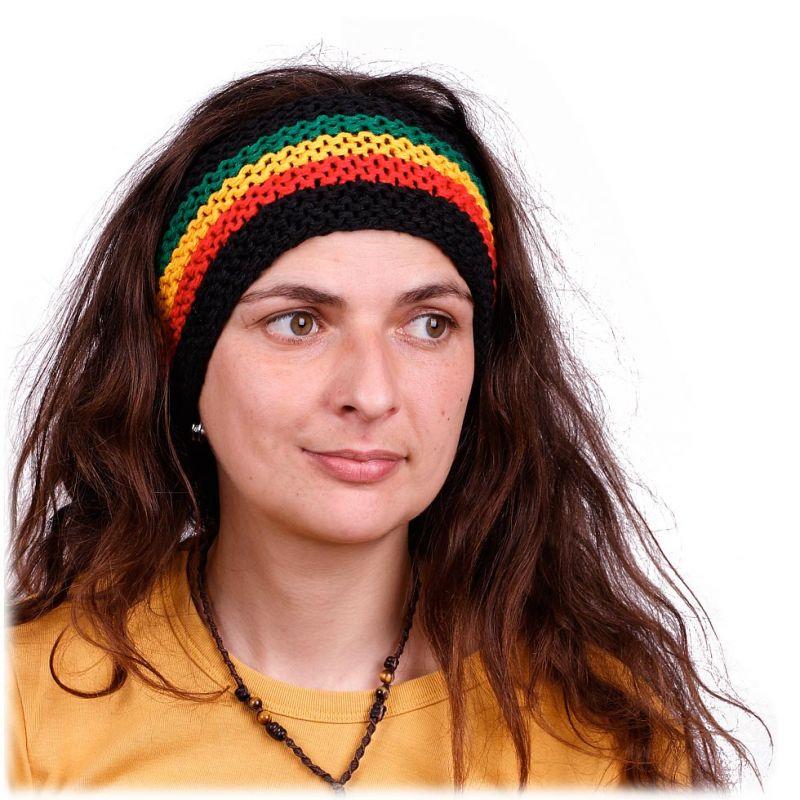 Stirnband Rasta Four Colours