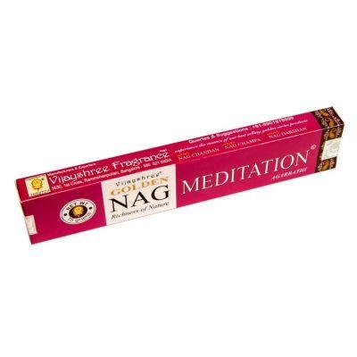Räucherstäbchen Golden Nag Meditation | Packung 15 g, Schachtel mit 12 Packungen zum Preis von 10