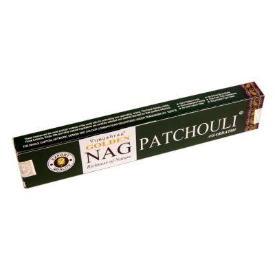 Räucherstäbchen Golden Nag Patchouli | Packung 15 g, Schachtel mit 12 Packungen zum Preis von 10