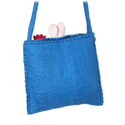 Filz-Handtasche für Kinder Tiere Cyan