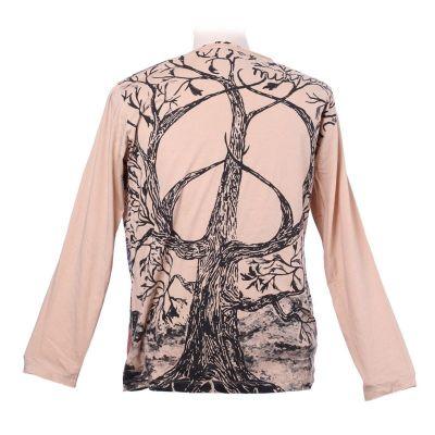Mirror T-Shirt mit langen Ärmeln - Tree of Peace Beige