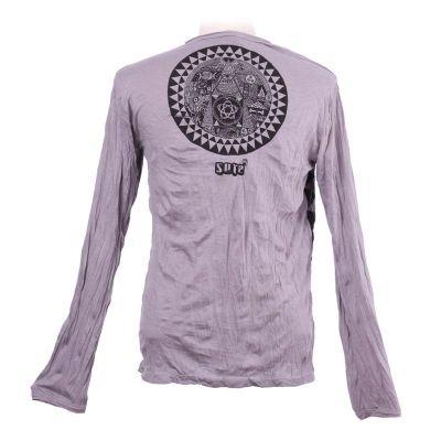Herren T-shirt Sure mit langen Ärmeln - Pyramid Grey