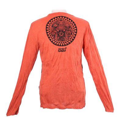 Herren T-shirt Sure mit langen Ärmeln - Pyramid Orange