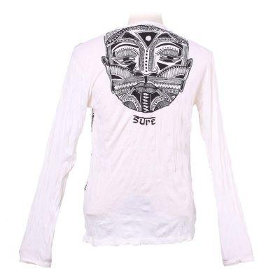 Herren T-shirt Sure mit langen Ärmeln - Khon Mask White
