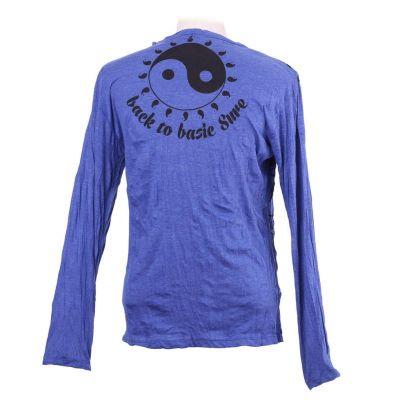 Herren T-shirt Sure mit langen Ärmeln - Yin&Yang Blue