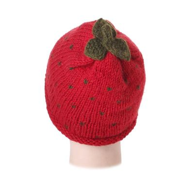 Wollmütze Strawberry without pompons