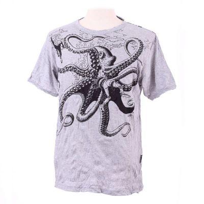 T-shirt Octopus Attack Grey