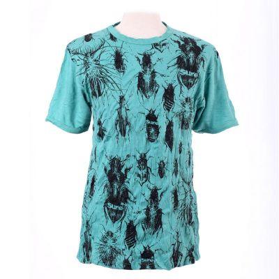 T-shirt Bugs Turquoise