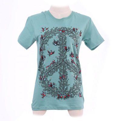 T-Shirt Hippie Birds Green