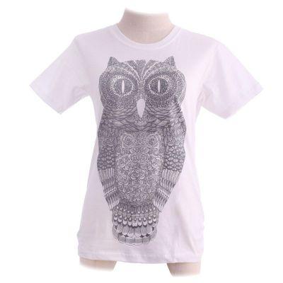 T-Shirt Big Owl White