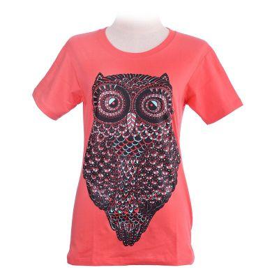T-Shirt Big Owl Pink