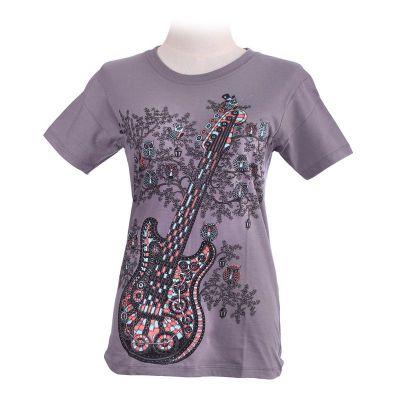 T-Shirt Guitar Grey