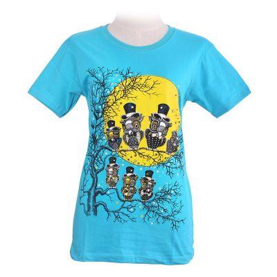 T-Shirt Full Moon Turquoise