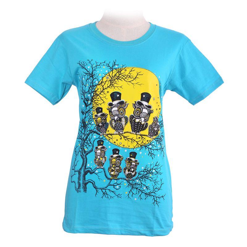 Damen T-Shirt Full Moon Turquoise
