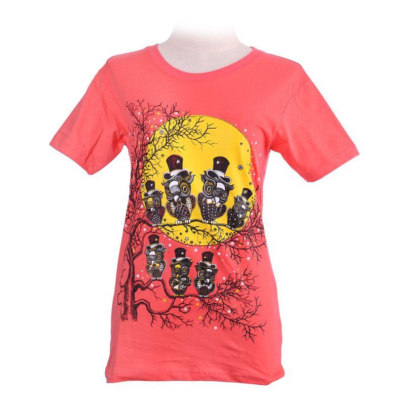 Damen T-Shirt Full Moon Pink