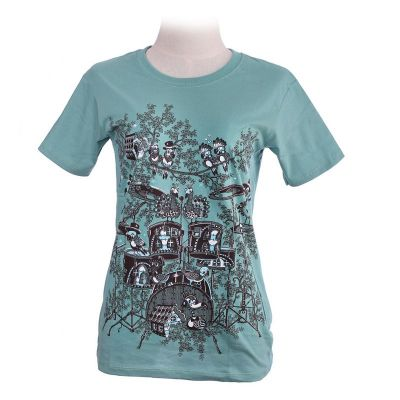 T-Shirt Drum Set Green
