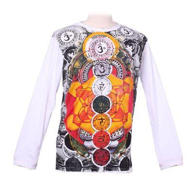 Mirror T-Shirt mit langen Ärmeln - Chakras