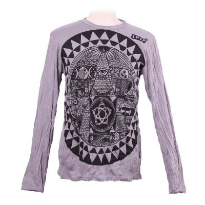 T-shirt Pyramid Grey - long sleeve
