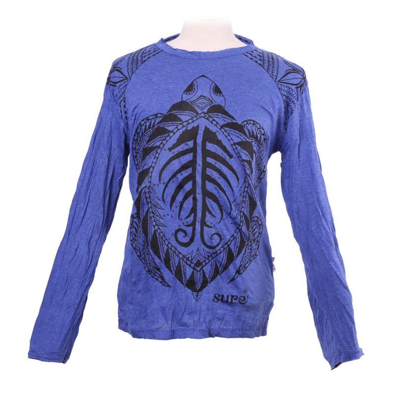 Herren T-shirt Sure mit langen Ärmeln - Turtle Blue