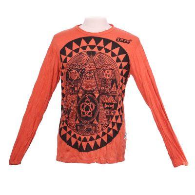 T-shirt Pyramid Orange - long sleeve