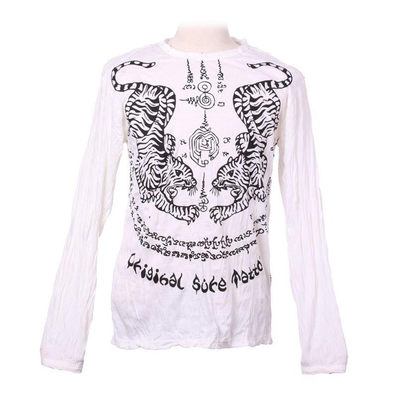 Herren T-shirt Sure mit langen Ärmeln - Tigers White