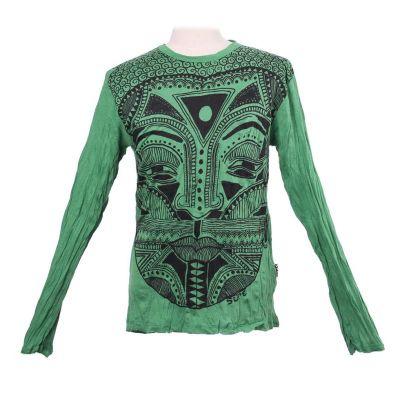 Herren T-shirt Sure mit langen Ärmeln - Khon Mask Green