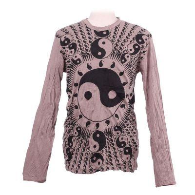 T-shirt Yin&Yang Brown - long sleeve