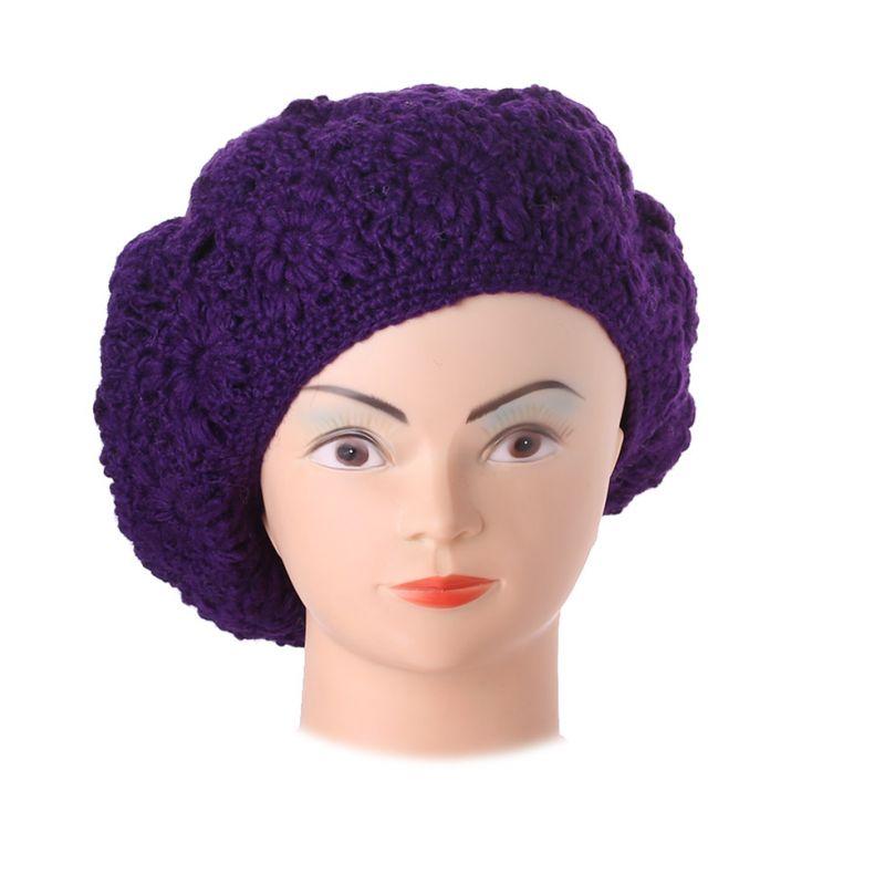 Gehäkelte Baskenmütze Laras Purple